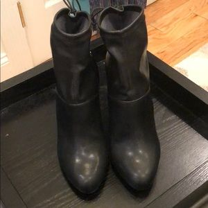 Zara 100% leather booties